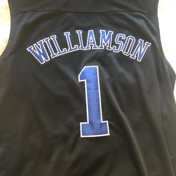 meet e04e5 1a845 Zion Williamson duke sewn on authentic jersey rare